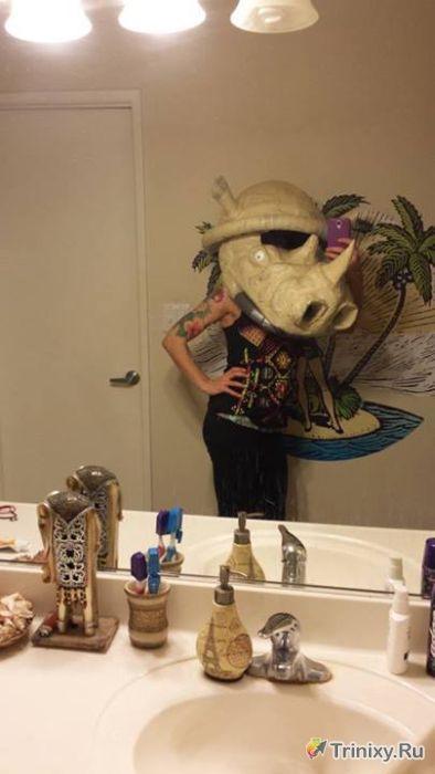 Крутой костюм на хэллоуин из обычной коробки (29 фото)