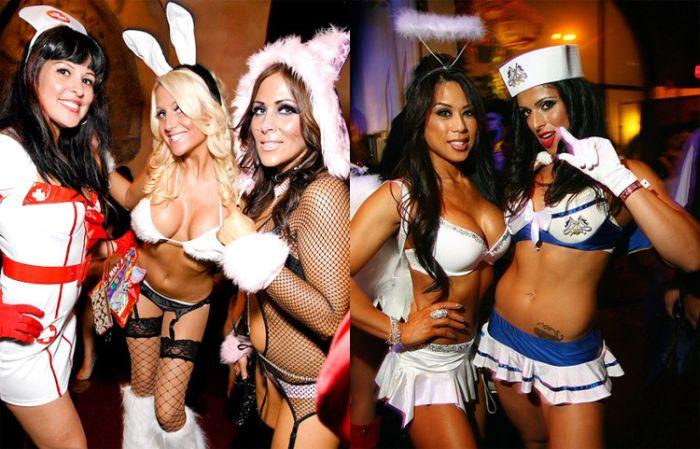 Вызывающие и откровенные костюмы на Хэллоуин (39 фото)