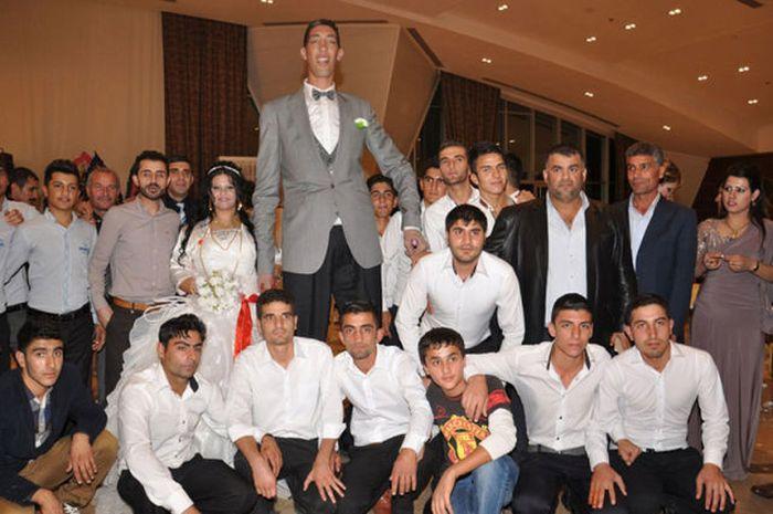 Свадьба самого высокого человека в мире по имени Султан Косен (15 фото)