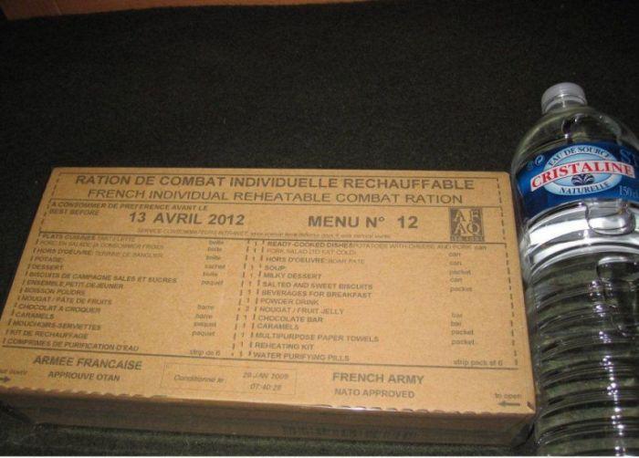 Французский армейский сухой паёк (8 фото)