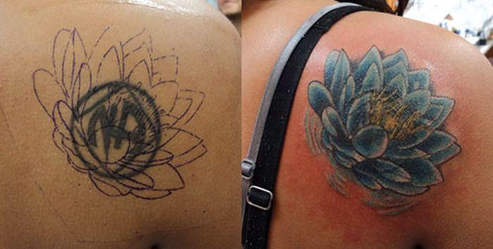 Исправленные татуировки (20 фото)
