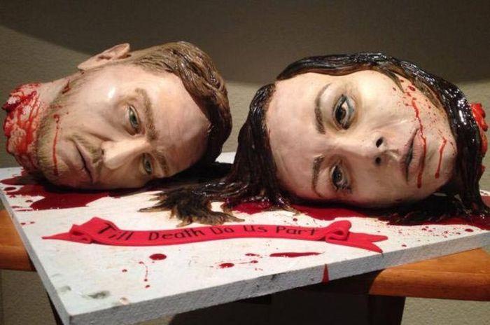 Креативный свадебный торт (7 фото)