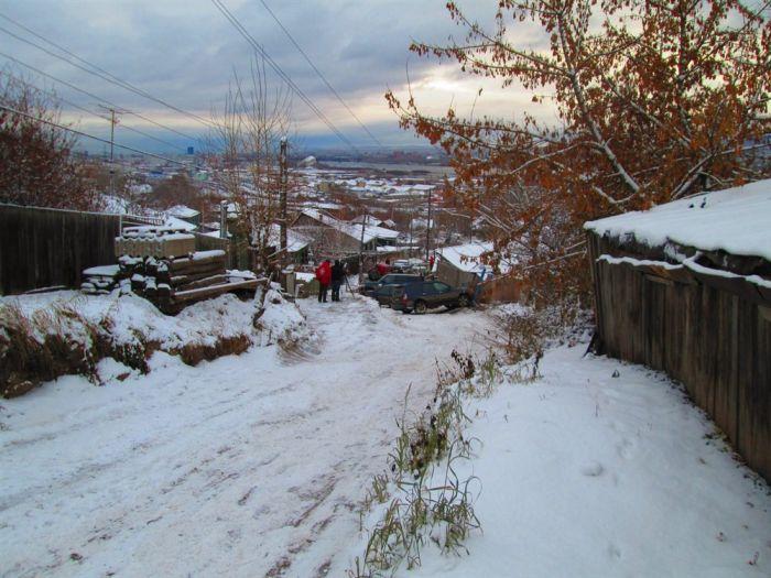 Жесткая авария из-за попытки объехать пробку (7 фото)