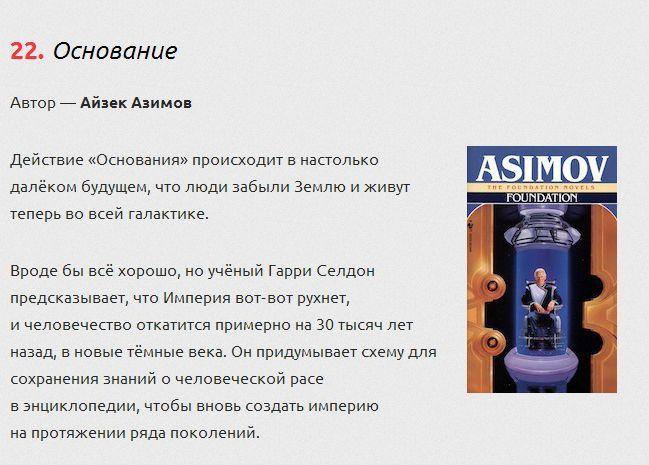 ТОП-25 самых интересных научно-фантастических книг (25 фото)