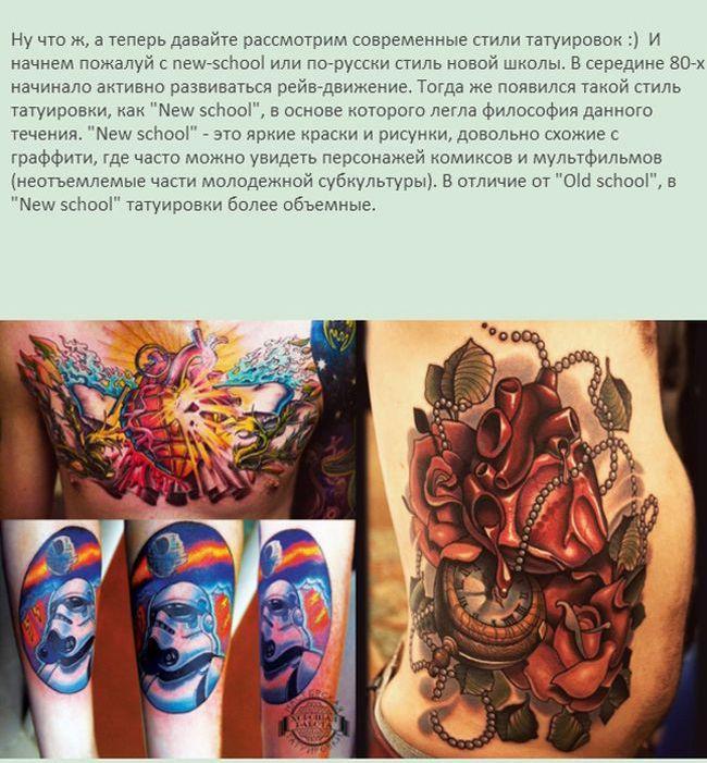 Информация о татуировках (12 фото)