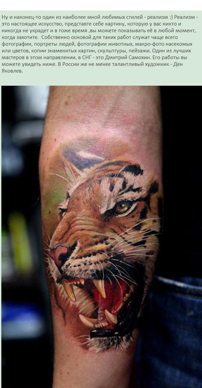 Тигр тату предплечье