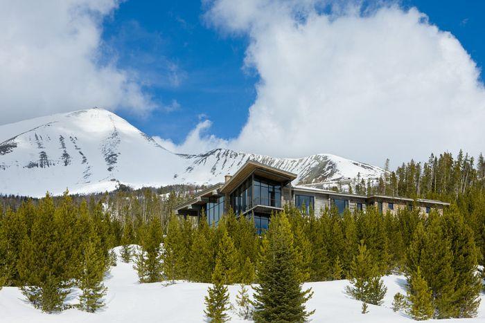 Дом мечты в горах (22 фото)
