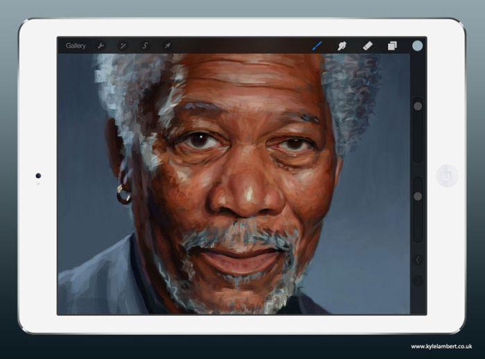 Создание цифрового портрета (7 фото + видео)