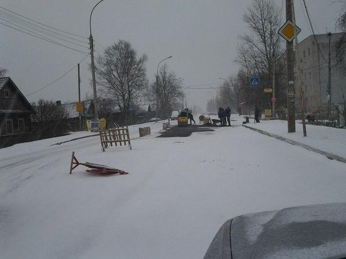 Сонник снег и лужи