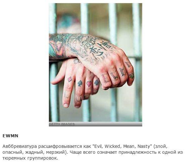 Расшифровка значений тюремных тату за границей (15 фото)