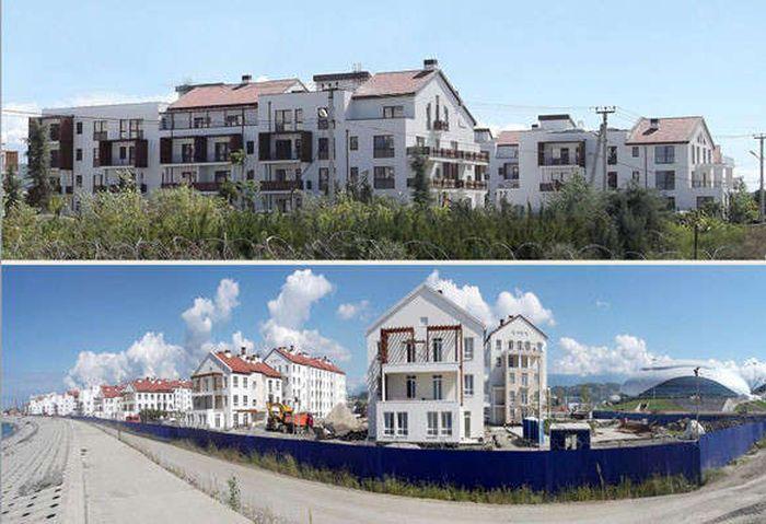 Олимпийское строительство в Сочи (98 фото)