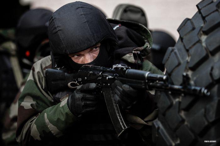 Тренировка спецназа перед учениями
