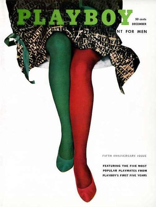 Все рождественские выпуски журналов Playboy (52 фото)