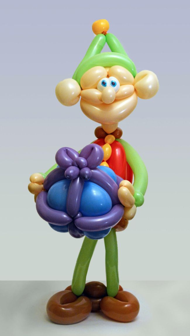 Креативные фигуры из воздушных шаров (18 фото)