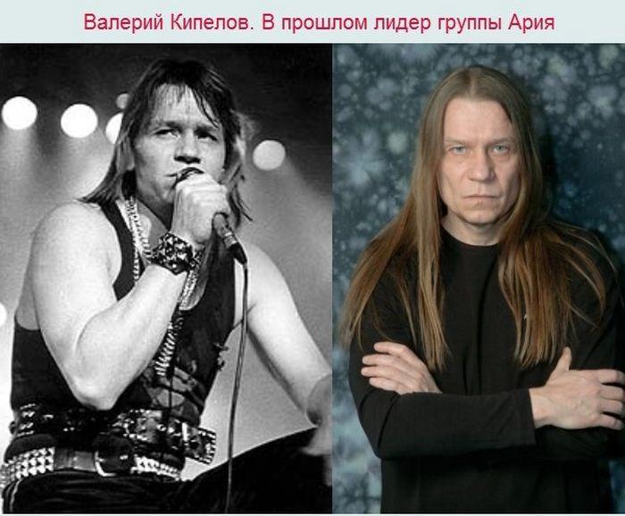 """Солисты российских рок-групп в стиле """"тогда и сейчас"""" (7 фото)"""