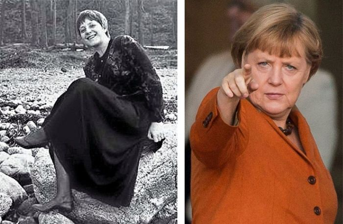 """Известные политики """"тогда и сейчас"""" (12 фото)"""