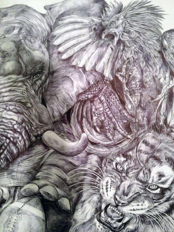 Этапы создания удивительного рисунка (26 фото)