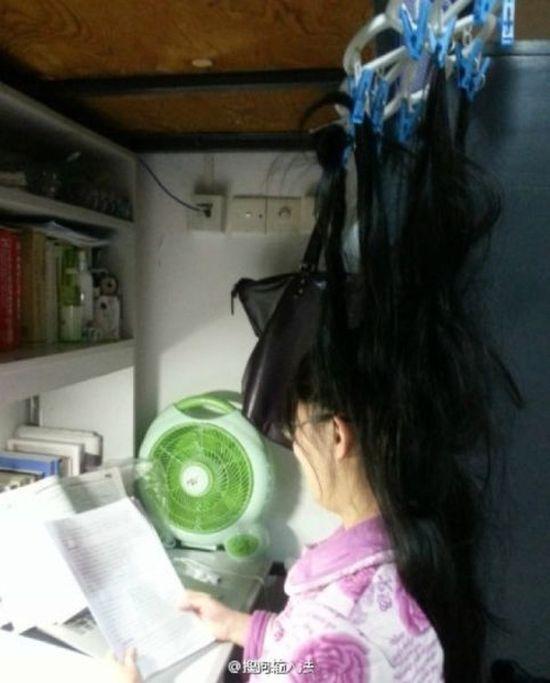 Как китайские студенты готовятся к экзаменам (9 фото)
