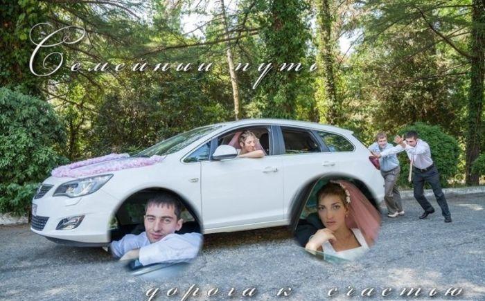Подборка прикольных свадебных фотографий (40 фото)