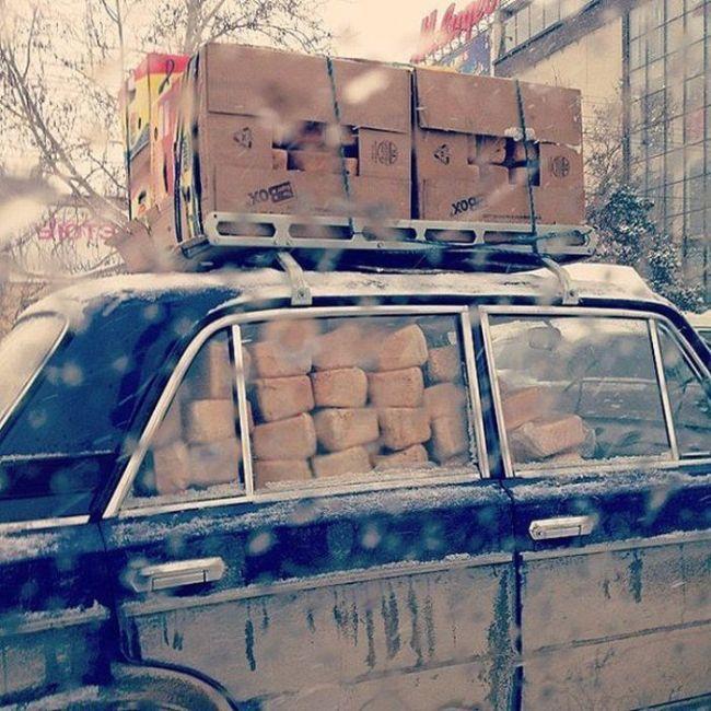 Фото из заснеженного Ростова-на-Дону