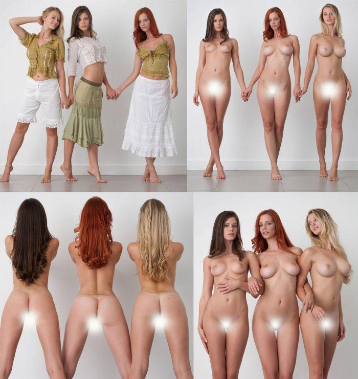 Голые девушки но в одежде — 4