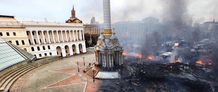 Фотография дня - Киев, Майдан ДО и ПОСЛЕ (Кликабельно)