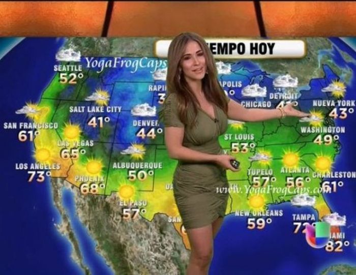 Какой должна быть ведущая прогноза погоды (35 фото)