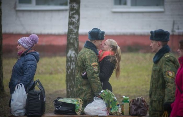 День посещений в российской армии (12 фото)