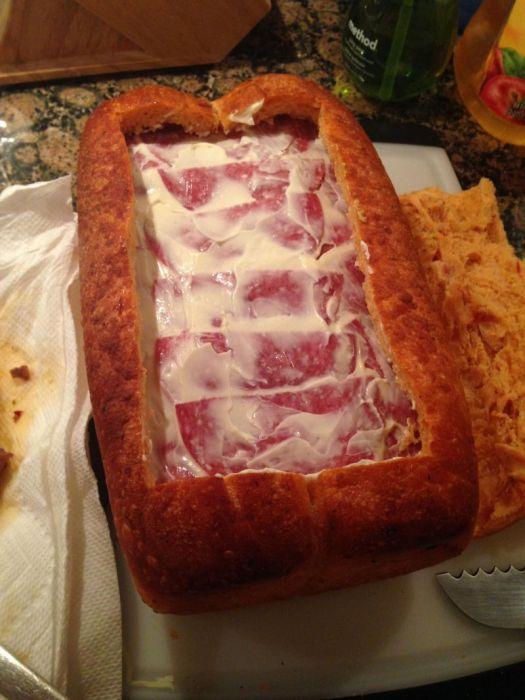 Как сделать поистине мужской бутерброд (23 фото)