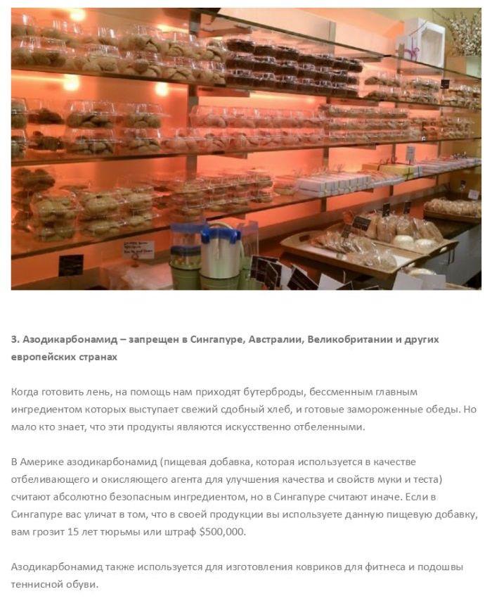 Опасные, но до сих пор разрешенные, ингредиенты продуктов питания (10 фото)