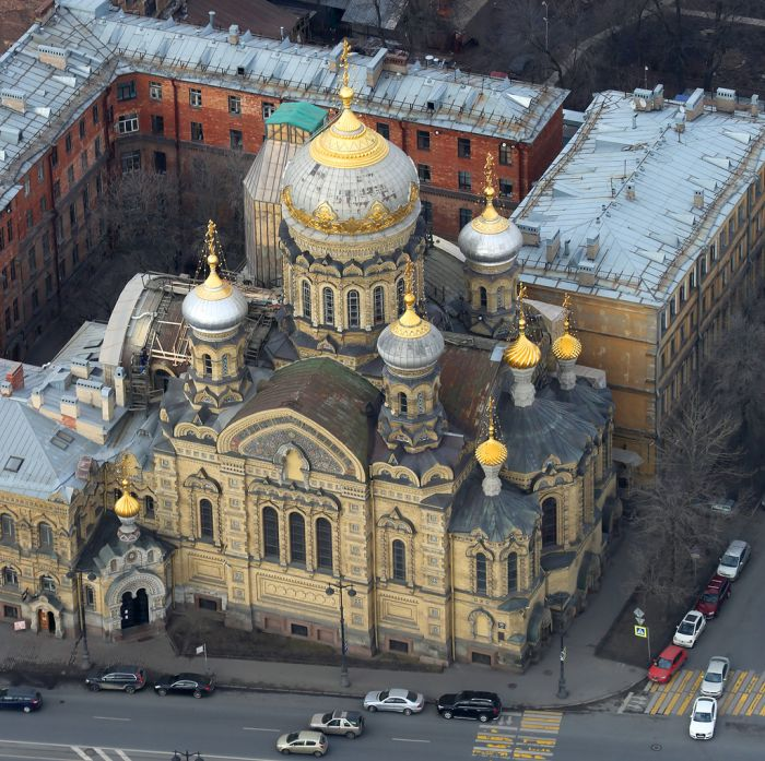 Весенний Санкт-Петербург с высоты птичьего полета (48 фото)