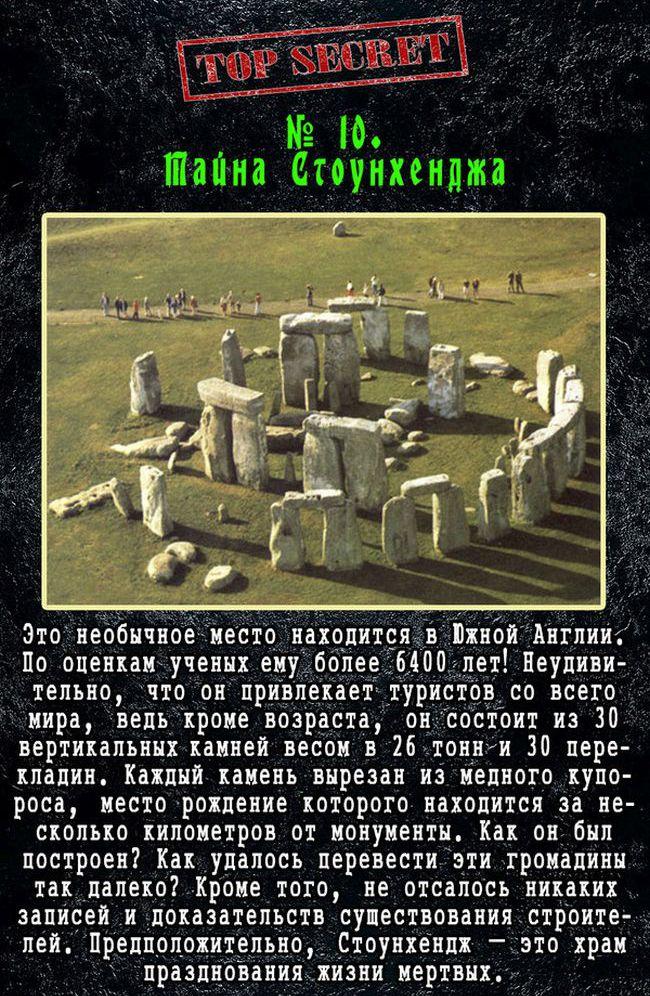 Самые таинственные загадки в истории человечества (11 фото)