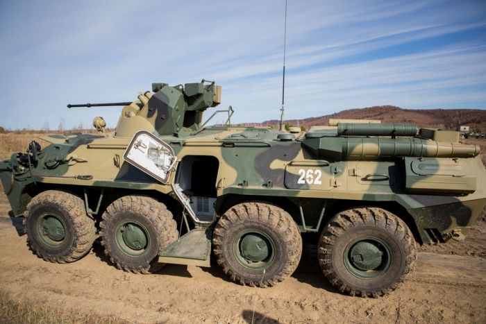 БТР-82АМ - достойная замена устаревшей модели бронетранспортера (11 фото)