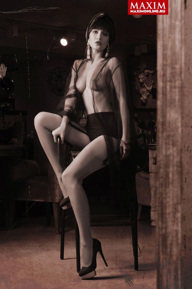 Евгения Брик разделась для журнала Maxim (4 фото)