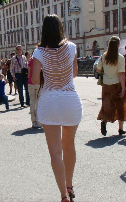 фото на улице в прозрачном