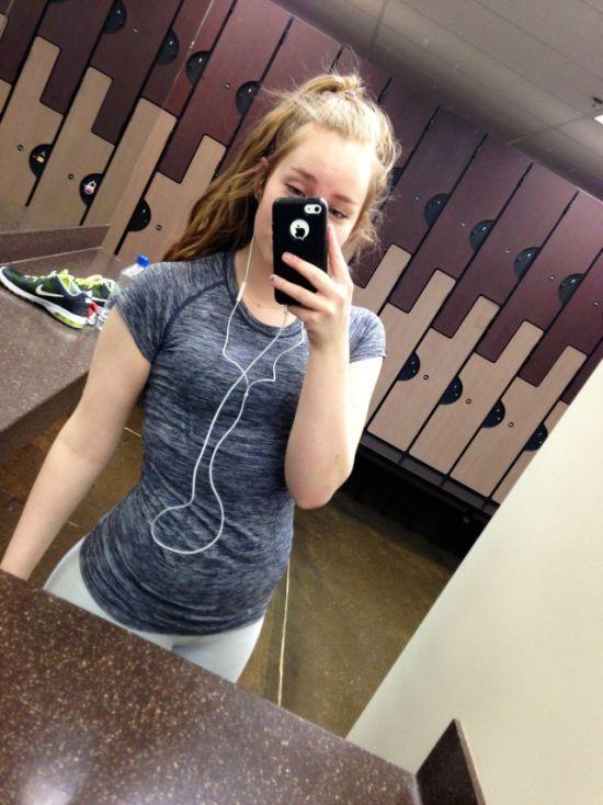 Девушка засняла своё похудание (8 фото)