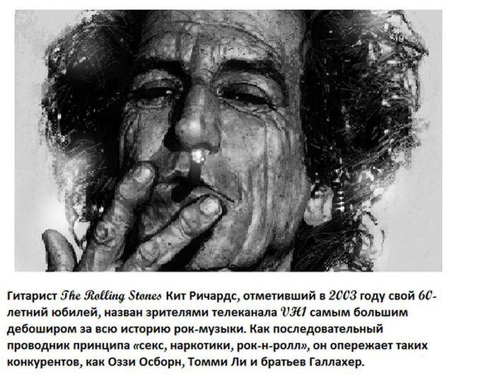 Познавательные факты о знаменитых рок-звездах