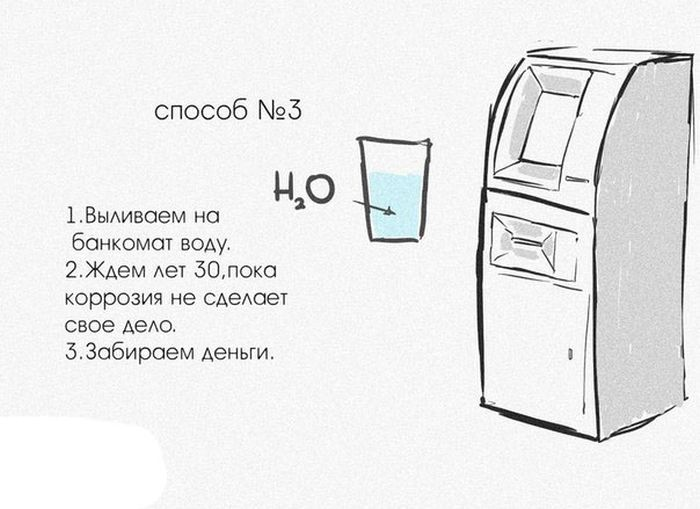 Необычные способы взломать банкомат (6 картинок)