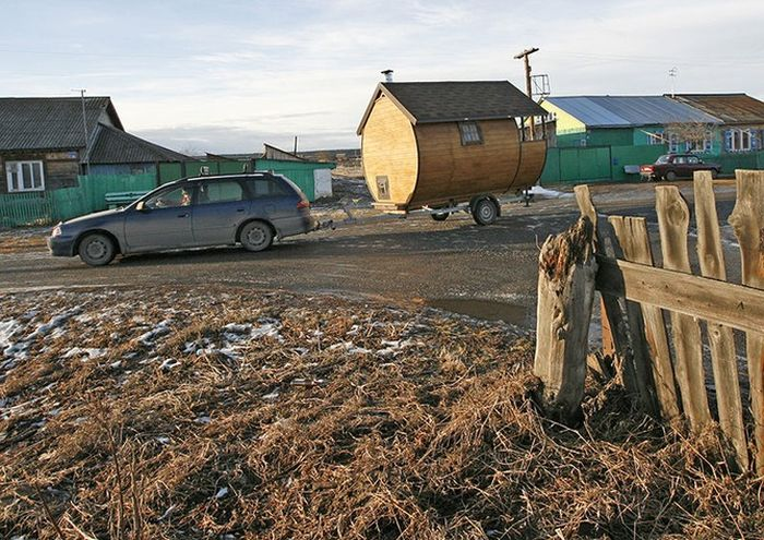 Баня на колесах своими руками (11 фото)