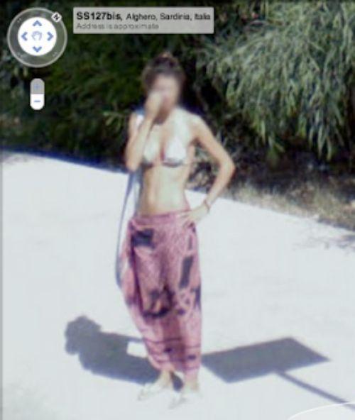 Девушки на Google Street View (39 фото)