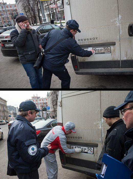 Пешая парковочная инспекция в Москве (39 фото)