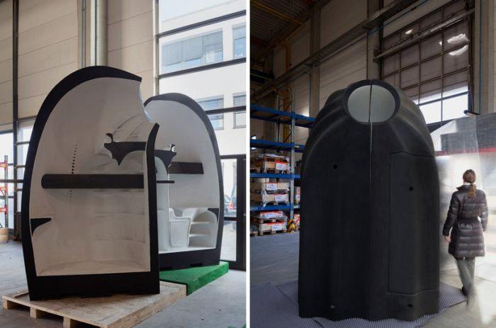 Компактный персональный дом, напечатанный на 3D-принтере (9 фото)