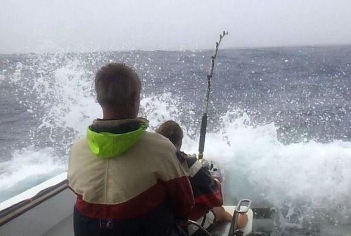 самый большой тунец на удочку