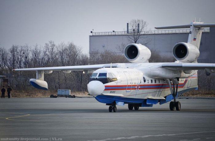 Авиация МЧС устраняет лесные пожары в Приморье (42 фото)