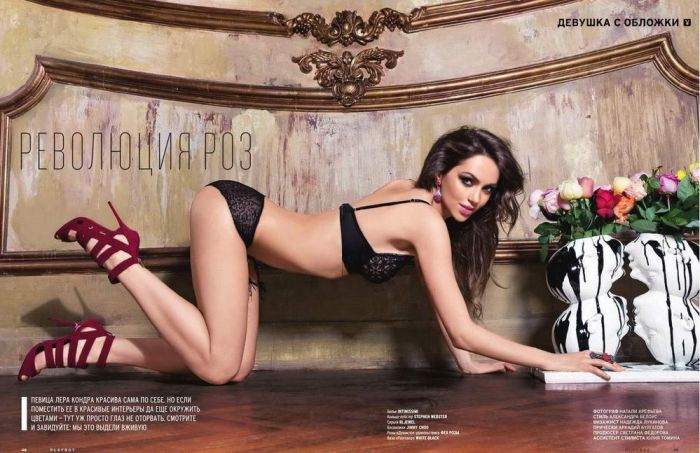 Лера Кондра в журнале Playboy за май 2014 (8 фото)