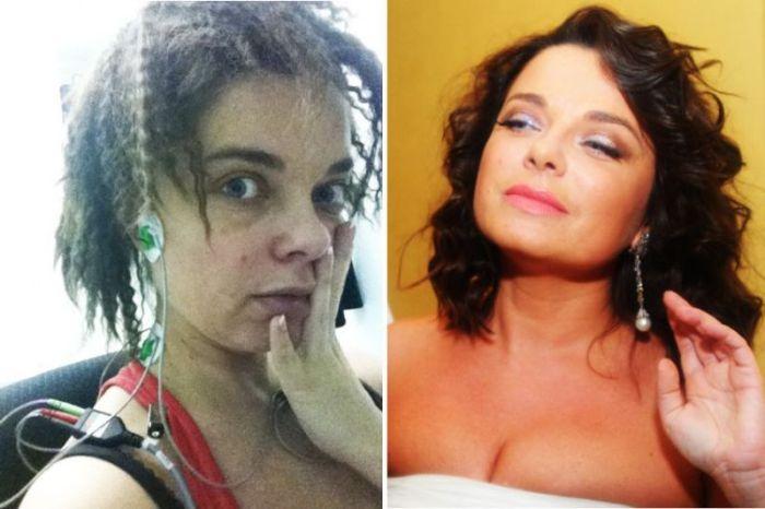 Звезды российского шоу-бизнеса с макияжем и без (17 фото)
