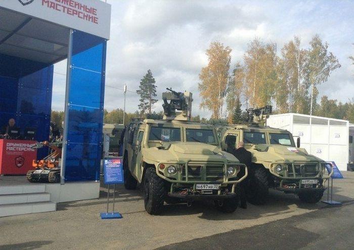 """Дистанционно-управляемый модуль вооружения нового броневика """"Тигр"""" (2 фото)"""