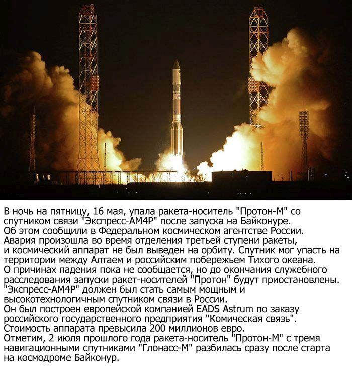 """""""Протон-М"""" со спутником полностью сгорел над Китаем (2 фото)"""
