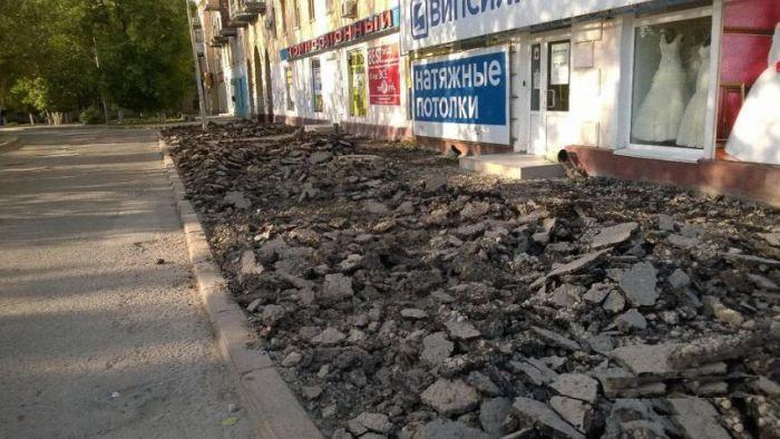 """Суровые волгоградские """"тротуары для пешеходов"""" (2 фото)"""