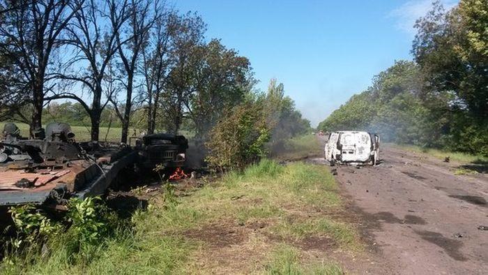 Нападение на блокпост украинской армии в Донецкой области (5 фото + видео)